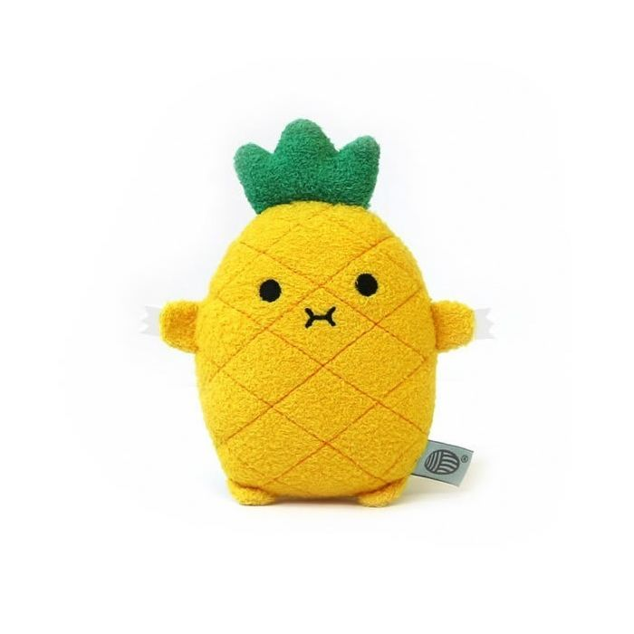 Pineapple mini plush soft toy for children 'Riceananas' in yellow