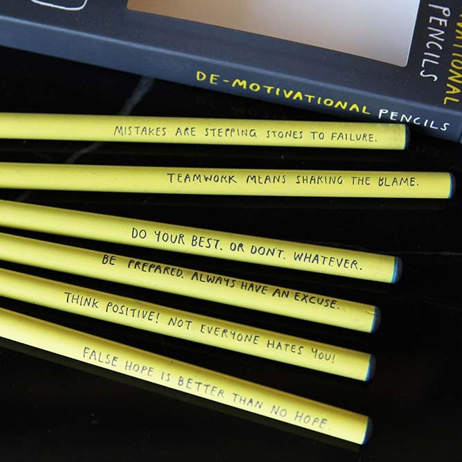 De-Motivational pencil set Stationery U Studio - Brand Academy Store