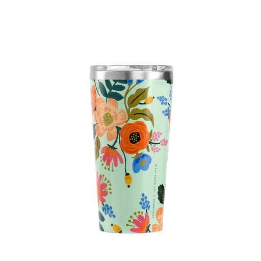 Corkcicle 16oz thermal tumbler for hot and cold drinks in Lively Floral print