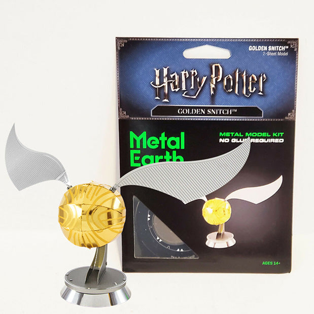 Harry Potter Puzzle Golden Snitch Build Your Own 3D Sculpture Metal