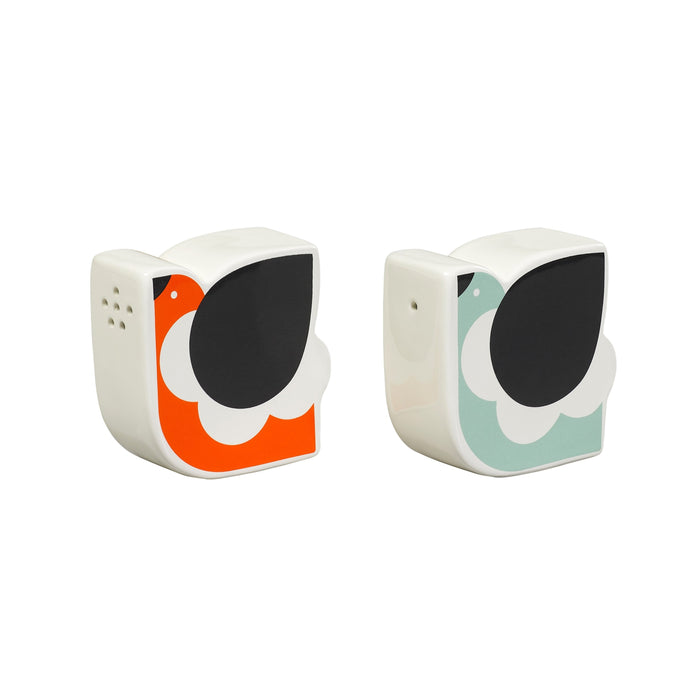 Ceramic Orla Kiely salt and pepper shaker frilly chicken Home Wild & Wolf - Brand Academy Store