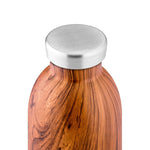 Water Bottle Insulated 500ml Brown Sequoia Wood Finish