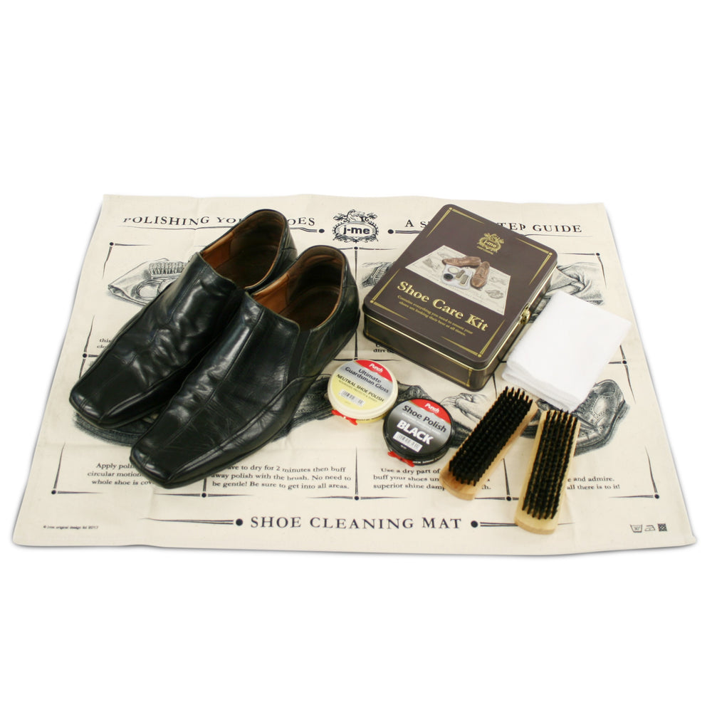 Shoe care kit polish and clean