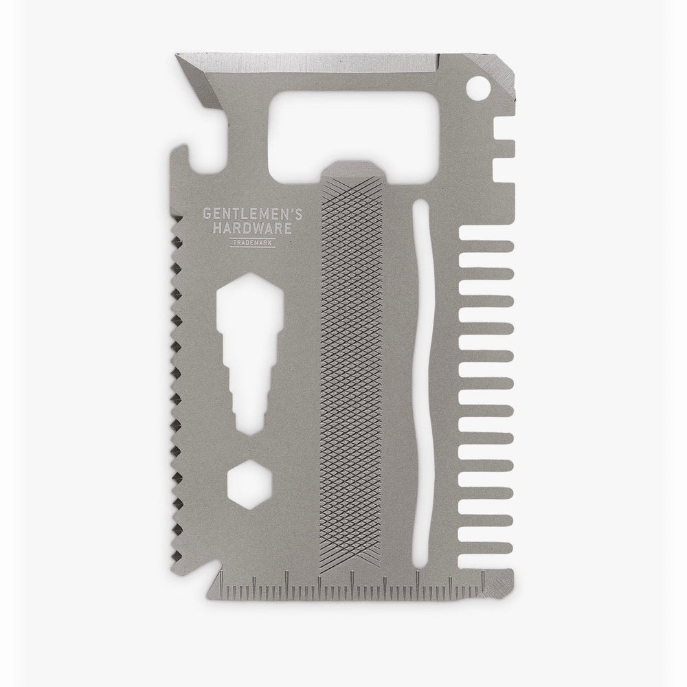 Multi-tool 15-in-1 portable credit card in dark grey