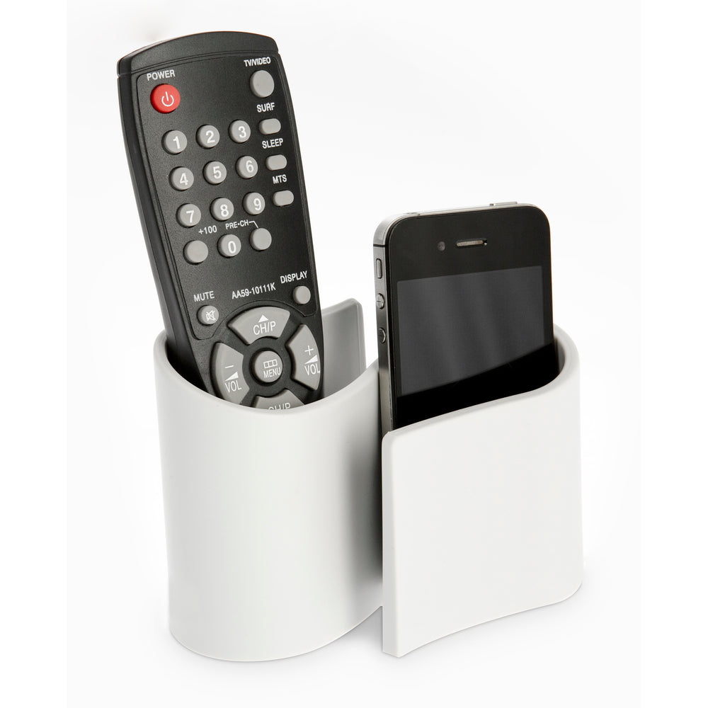 Snug desk tidy & remote control holder - grey