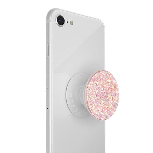 Popsocket Mobile accessory expanding hand-grip and stand in pink sparkles