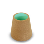 Storage cone desk tidy in green cork