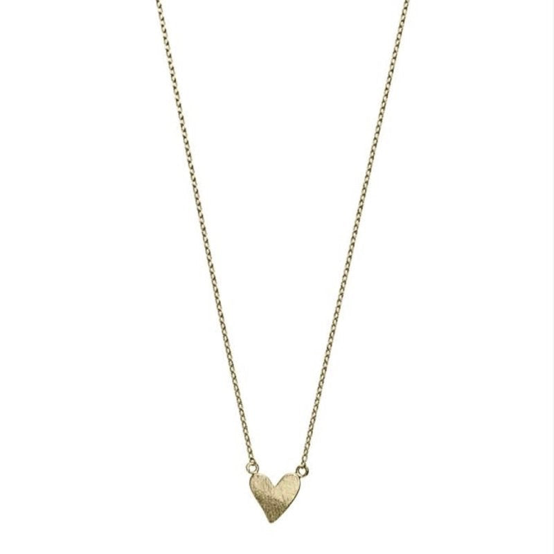 Necklace with a heart in gold