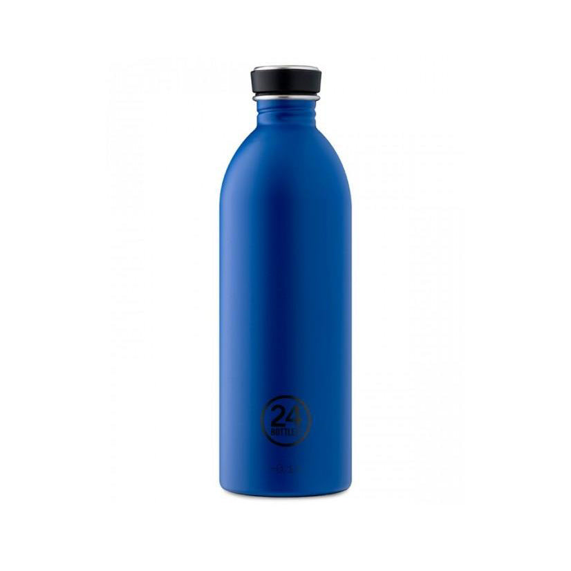 Water Bottle Lightweight 1L Gold Blue