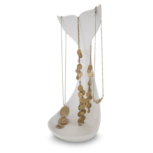Whale necklace stand - white Home j-me - Brand Academy Store