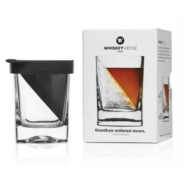 Corkcicle whiskey glass and ice wedge set
