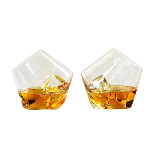 Rocking whisky glasses | Set of 2 Home Wild & Wolf - Brand Academy Store