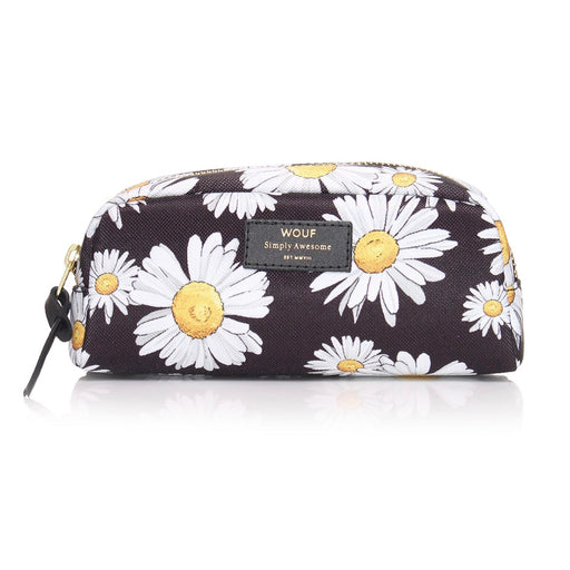 Beauty pouch with Daisy and black print in small