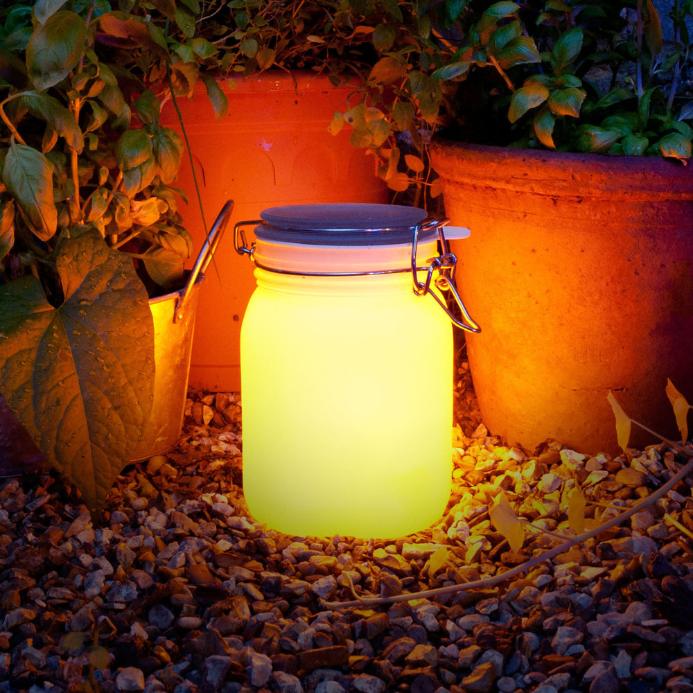 Sun Jar - Solar Powered Light Yellow