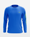 Royal Blue Mighty Jig Performance Fishing shirt from fishing apparel brand Jigalode. The long sleeve shirt is UPF+50 for sun protection, moisture wicking, and anti-microbial.