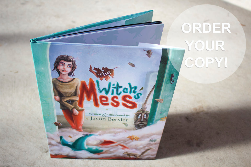 Best Children's Books, Original Picture Book, Fantasy Story, Books That Rhyme, Whimsical Illustration, Beautiful Children's Book Illustration, The Witch's Mess by Jason Bessler, Hardcover Children's Books, Kid's Lit