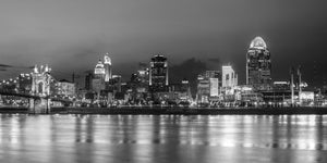 Cincinnati black and white photography print for the office