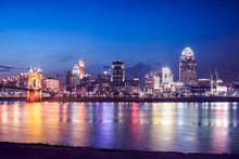 Cincinnati cityscape river view