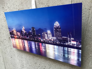 City photography printed on metal
