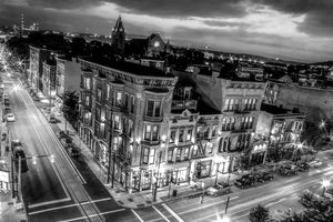 Over The Rhine Cincinnati Victorian Architecture Black and white
