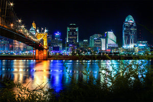 Cincinnati Skyline, Cincinnati Night