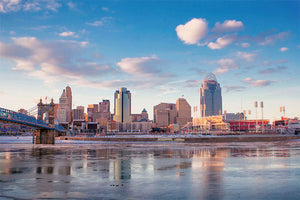 Cincinnati Skyline with Ohio River View