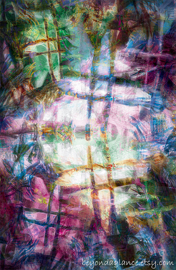Fantasy Abstract Art, Digital Art Print, Mysterious, decay