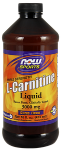 L-Carnitine Liquid (Citrus), 3000 mg, 16 Fl. Oz.