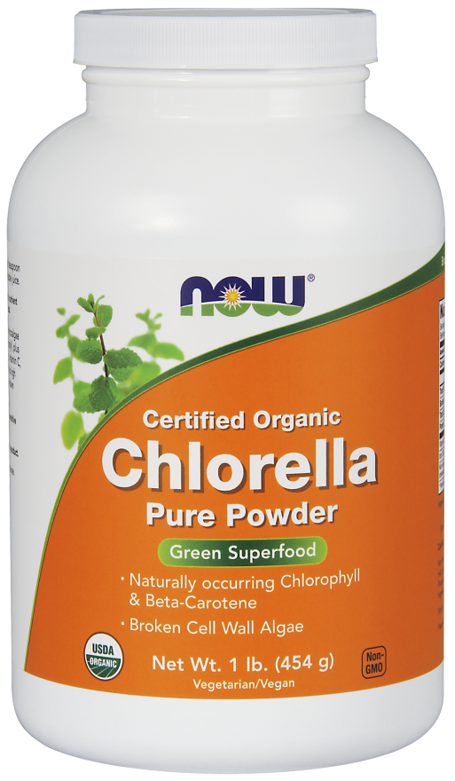 Chlorella Powder, Certified Organic, 1 Lb.