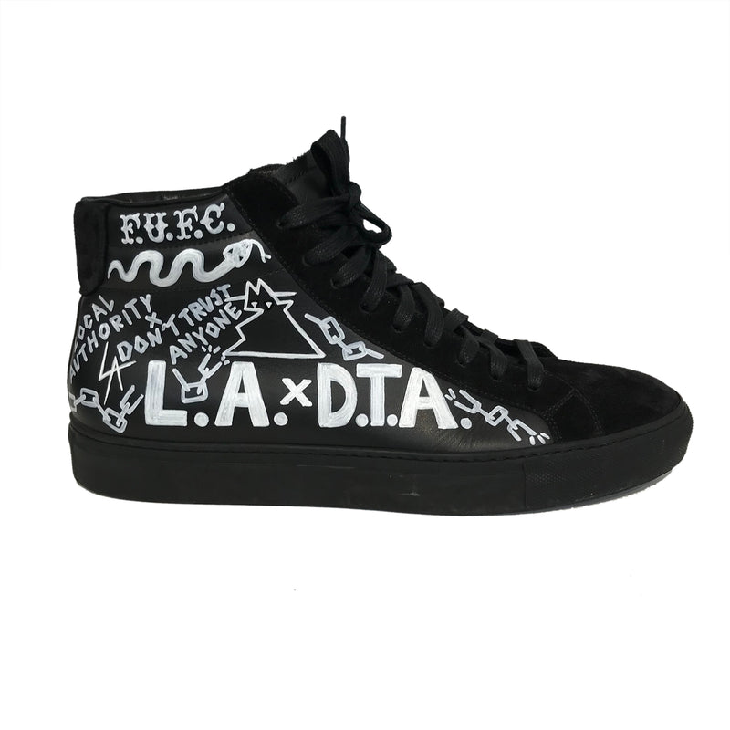 L.A. x D.T.A. Customized High Top Blk