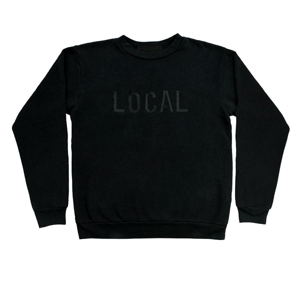 Local crew neck fleece emb