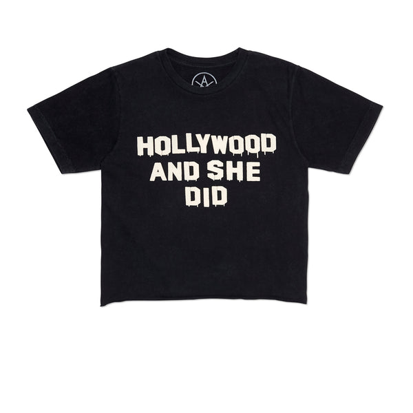 Holly Did It Crop Tee