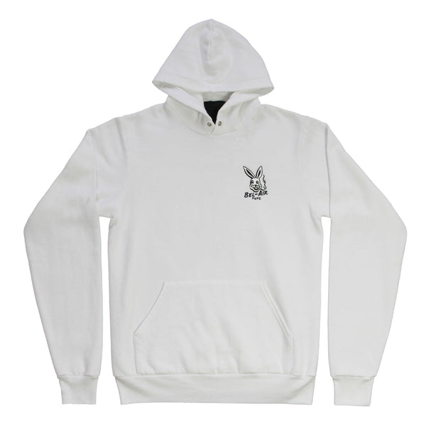 Bel Air Bunny hooded fleece emb