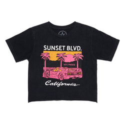 SUNSET BLVD CROP TEE