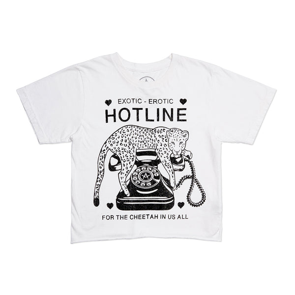 Hotline Crop Tee
