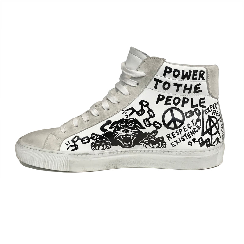L.A. x D.T.A. Customized High Top Wht