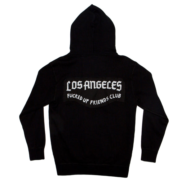 LA Crest hooded zip fleece