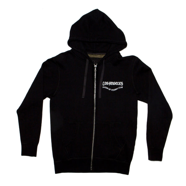 Justice zip fleece emb