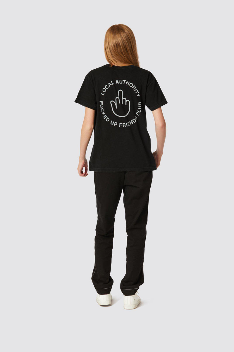 FINGERS UP POCKET TEE