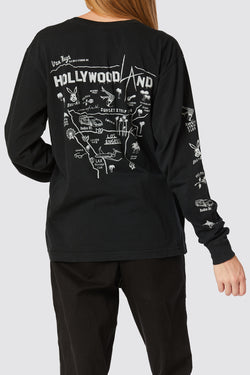 Hollywoodland long sleeve pocket tee