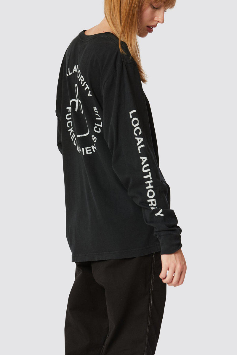 FINGERS UP LONG SLEEVE POCKET TEE