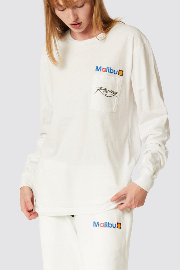 MALIBU RACING LONG SLEEVE POCKET TEE