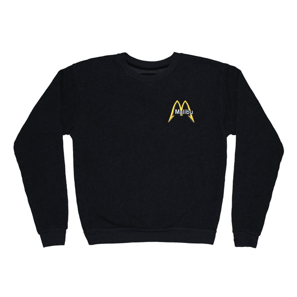 Malibu Cafe crew neck fleece emb