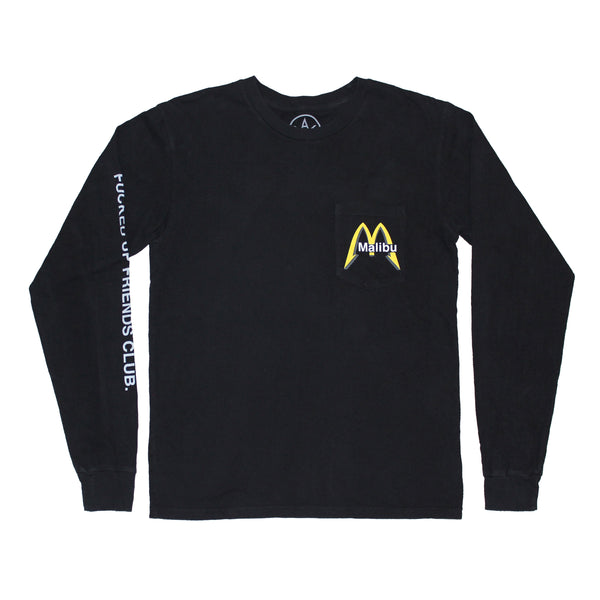 Malibu Cafe long sleeve pocket tee