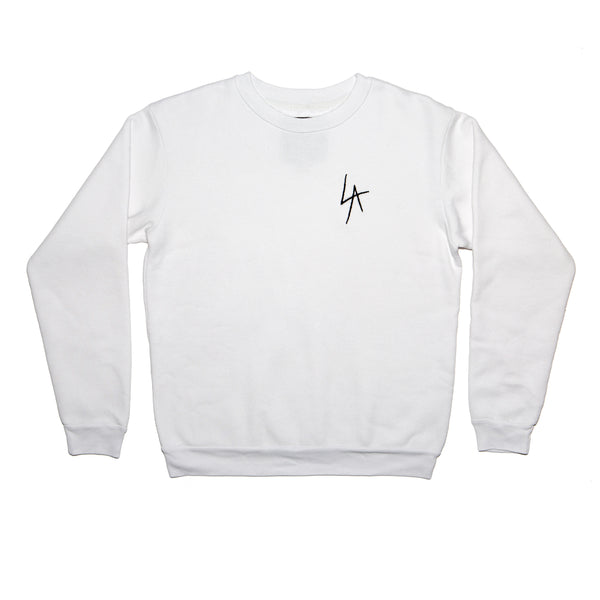 LA Slash crew neck fleece emb
