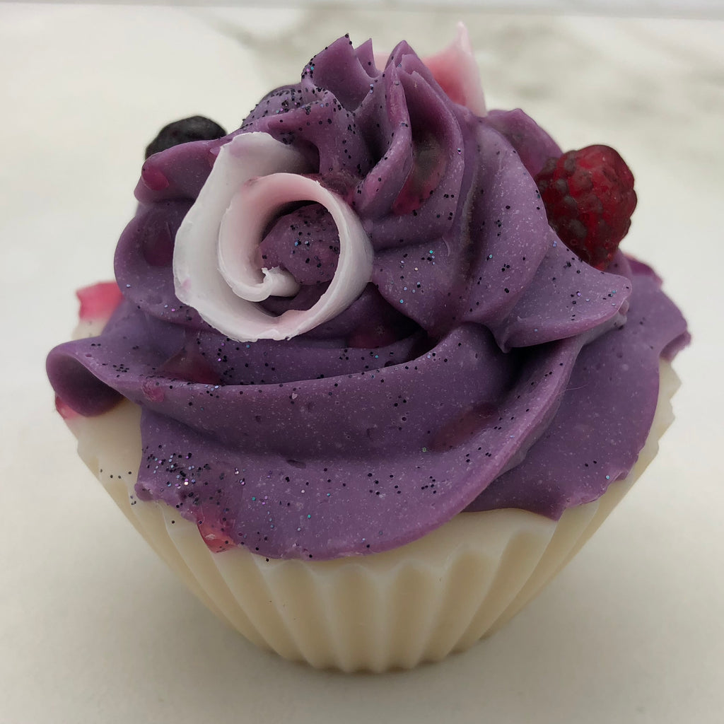 Black Raspberry and Vanilla Artisan Soap Cupcakes Vegan