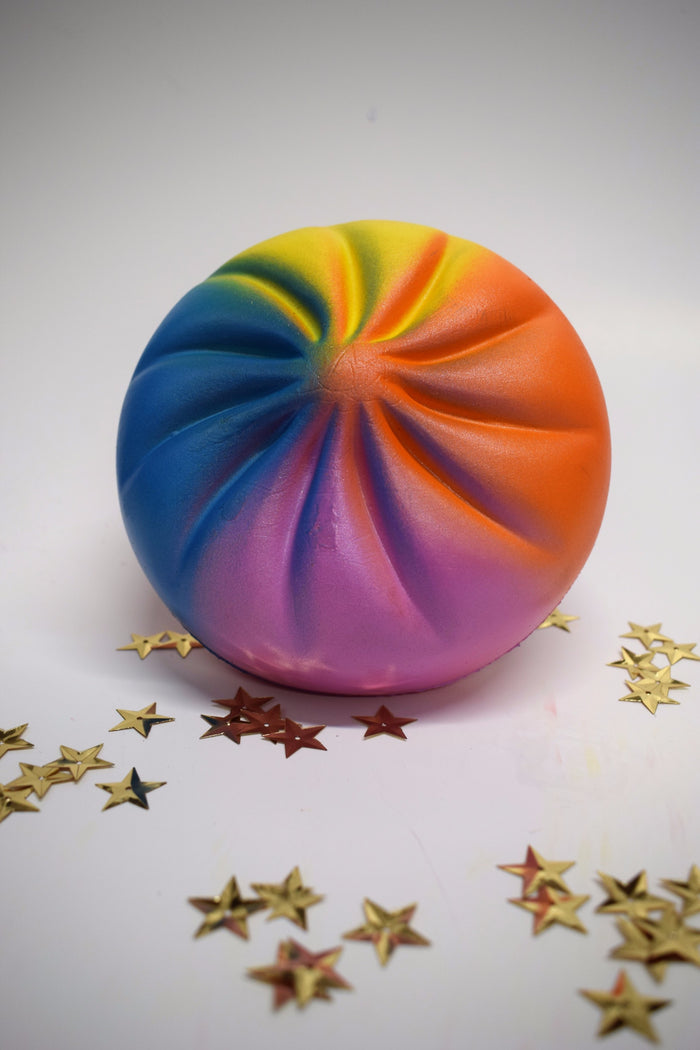 Jumbo Rainbow Bun Slow Rising Squishy