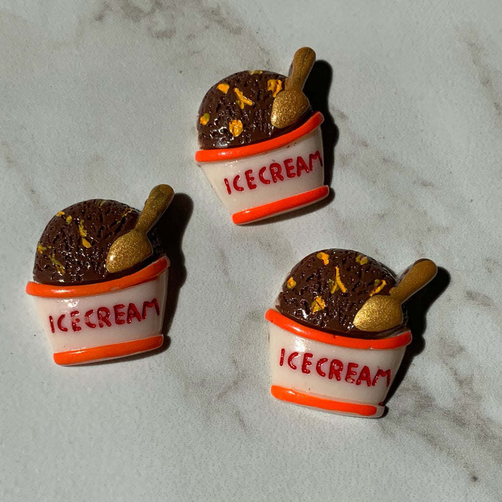 Chocolate Ice Cream Cup Charms