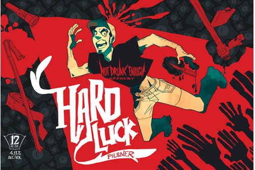 Hard Luck Beer Label Poster