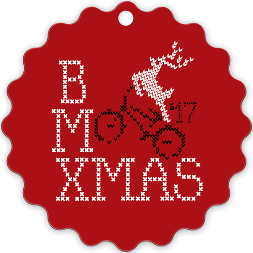 BMXMAS Metal Christmas Ornament
